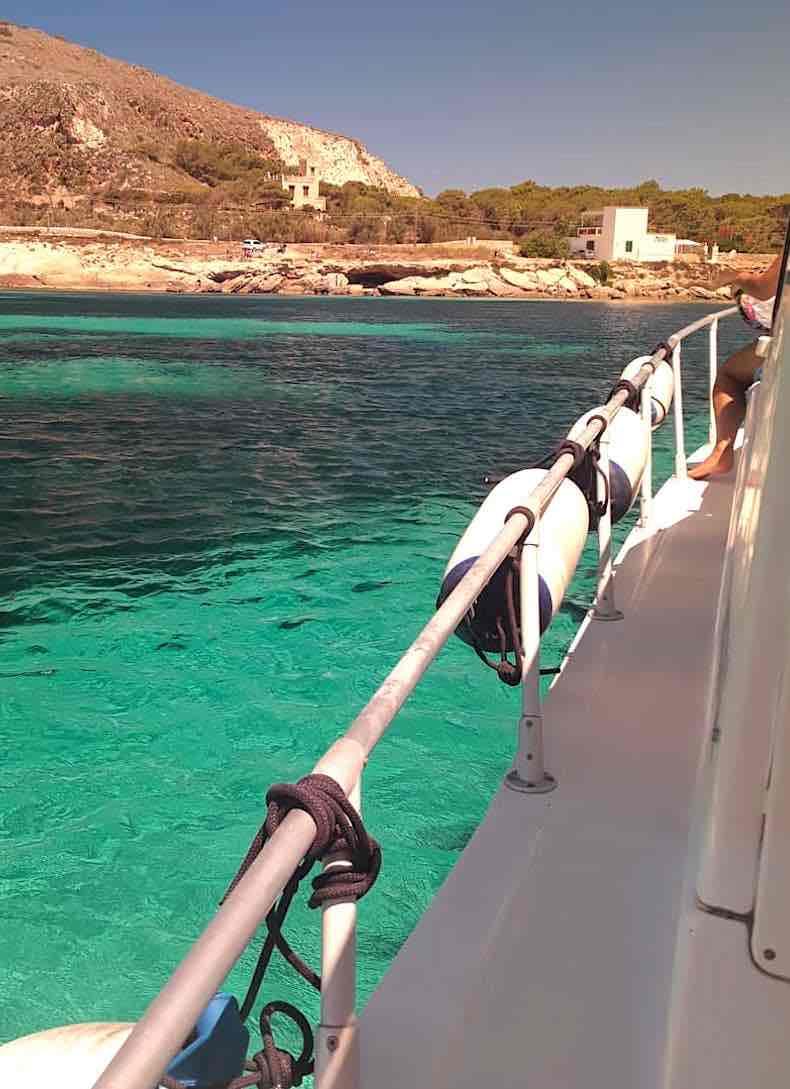 Escursione in barca alle Egadi